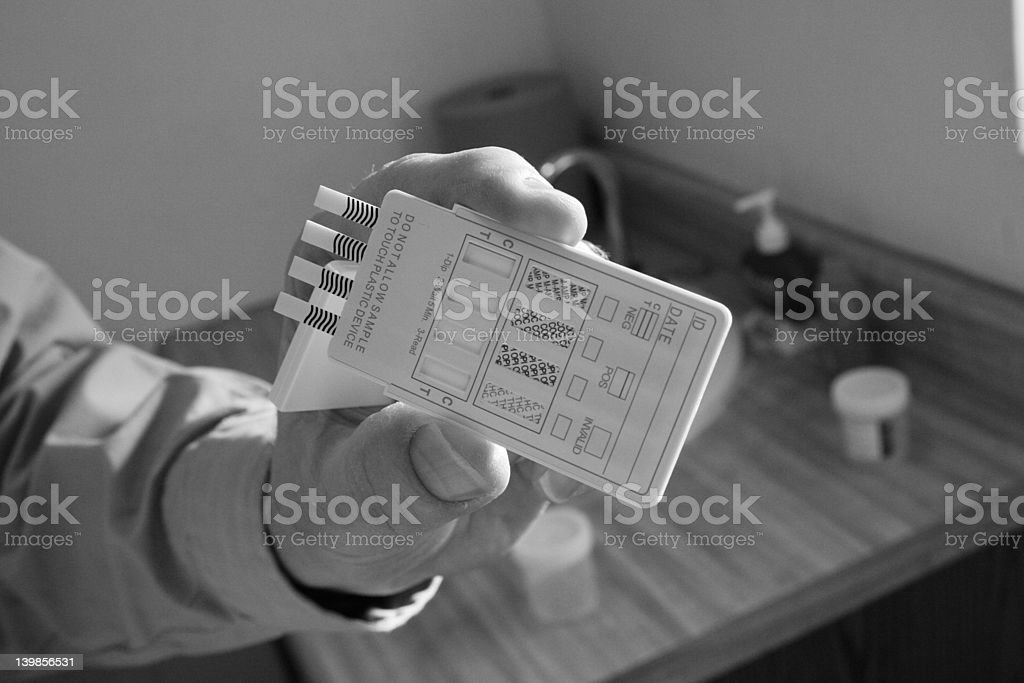 Drug Test Black and White stock photo