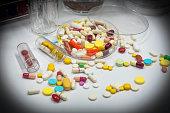 Drug test in laboratory.