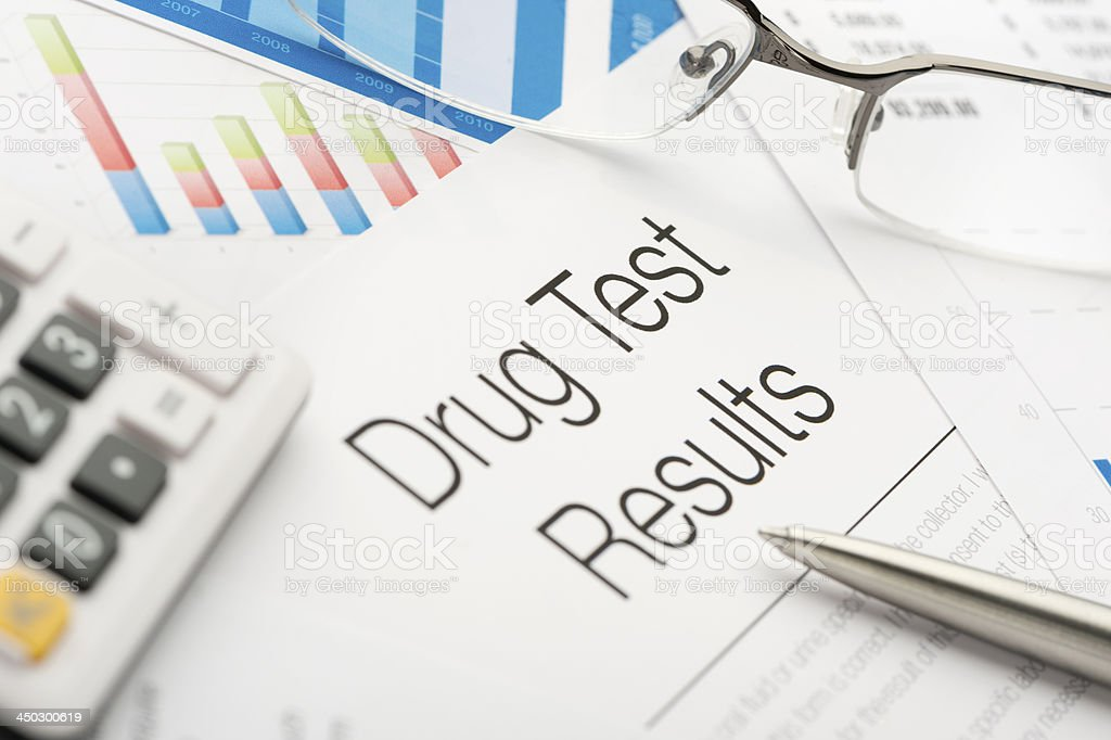 Drug test results stock photo