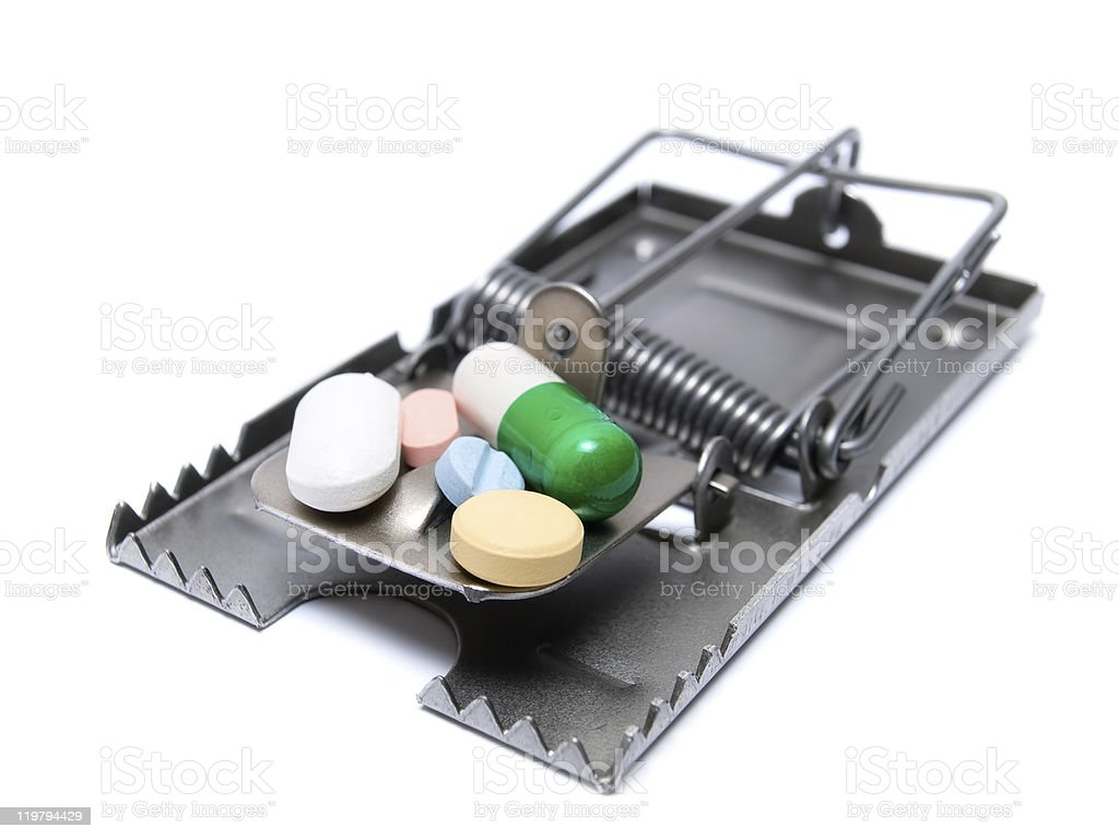 Drug treatment risk stock photo