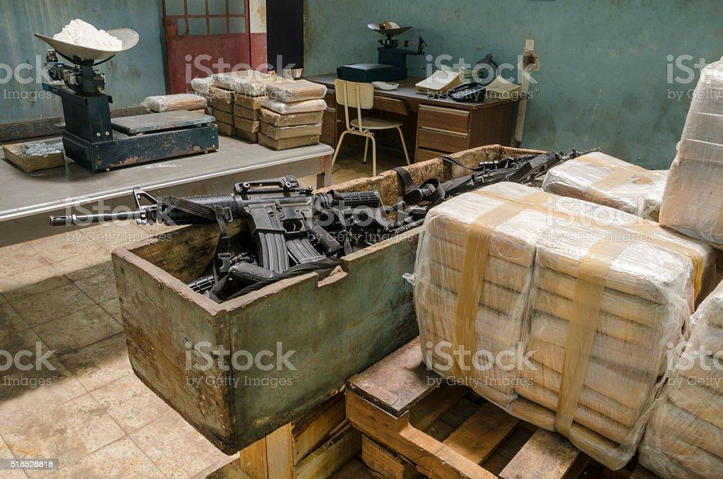 Drug warehouse stock photo