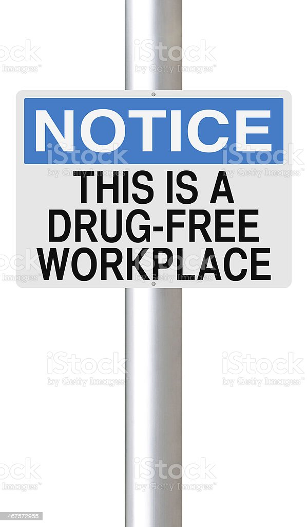 Drug-Free Workplace stock photo