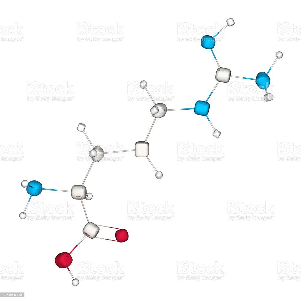 DrugModel: Amino Acid Arginine royalty-free stock photo