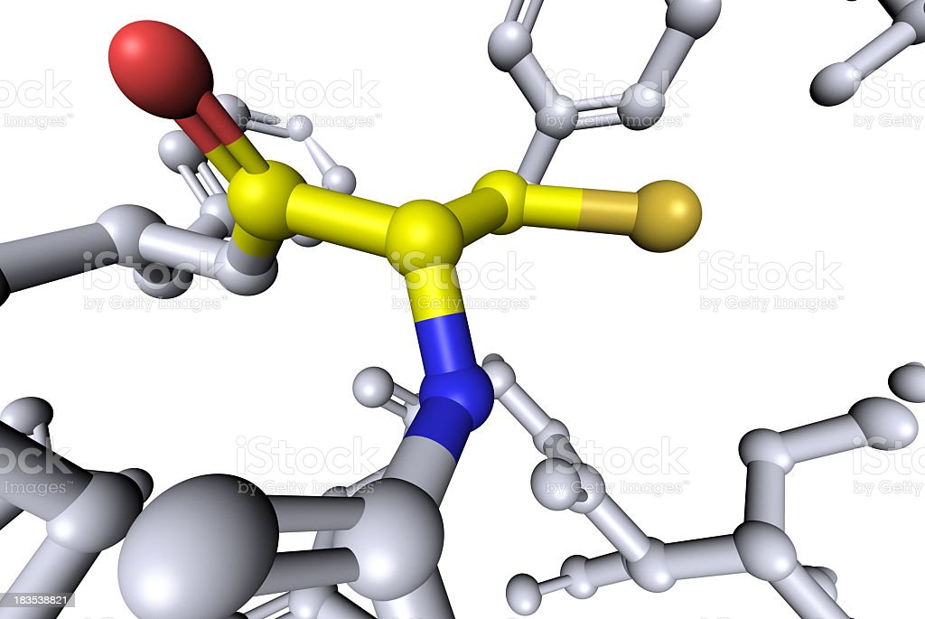 DrugModel: Amino Acid Cysteine stock photo