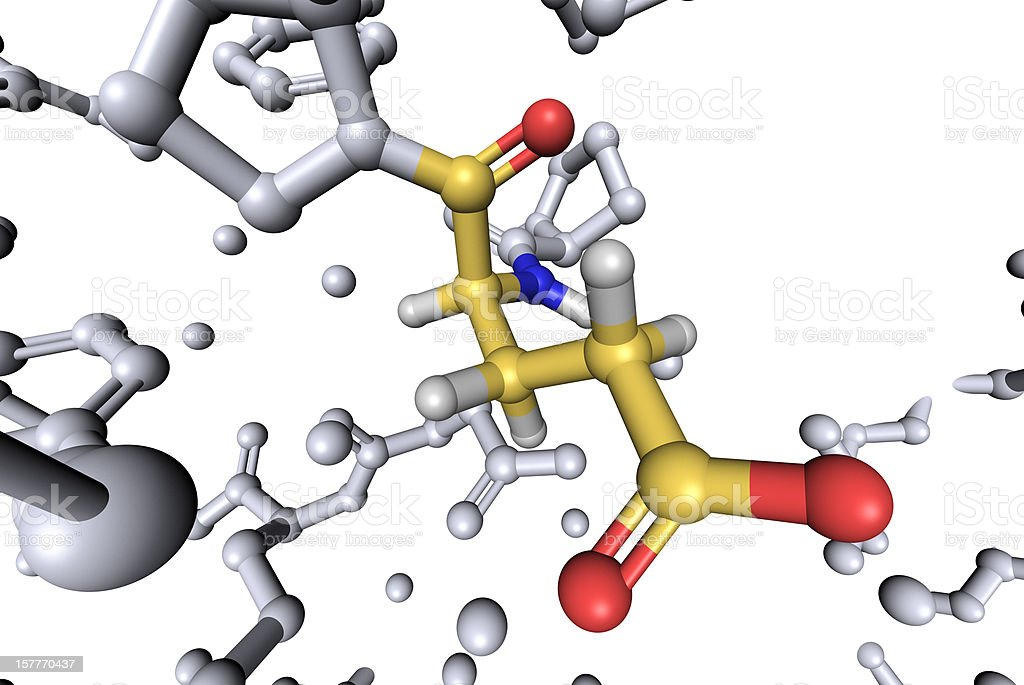 DrugModel: Amino Acid Glutamic_Acid stock photo