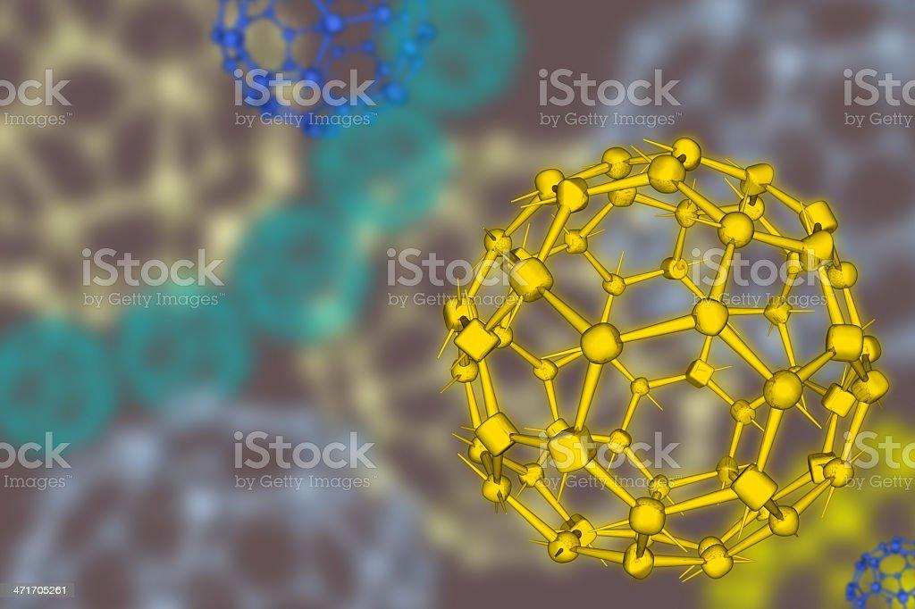 DrugModel: Buckyball - Fullerene royalty-free stock photo