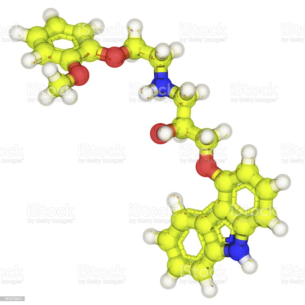 DrugModel: Carvedilol stock photo