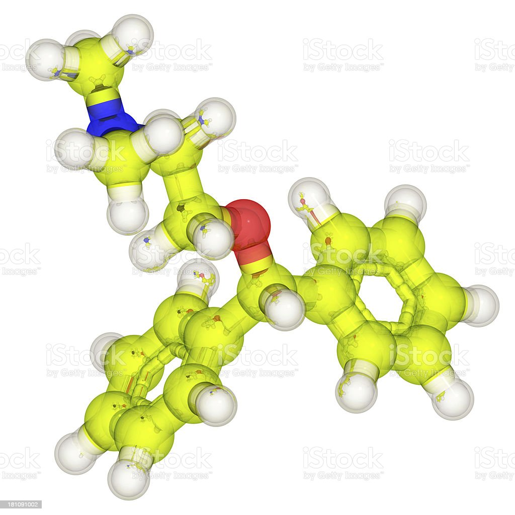 DrugModel: Diphenhydramine royalty-free stock photo