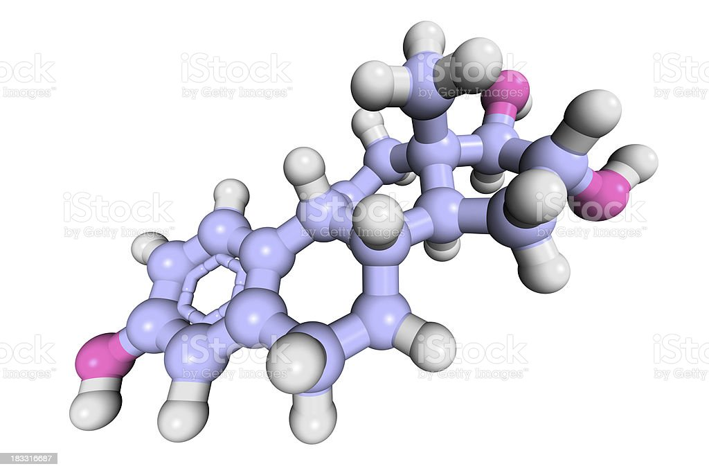 DrugModel: Estriol royalty-free stock photo