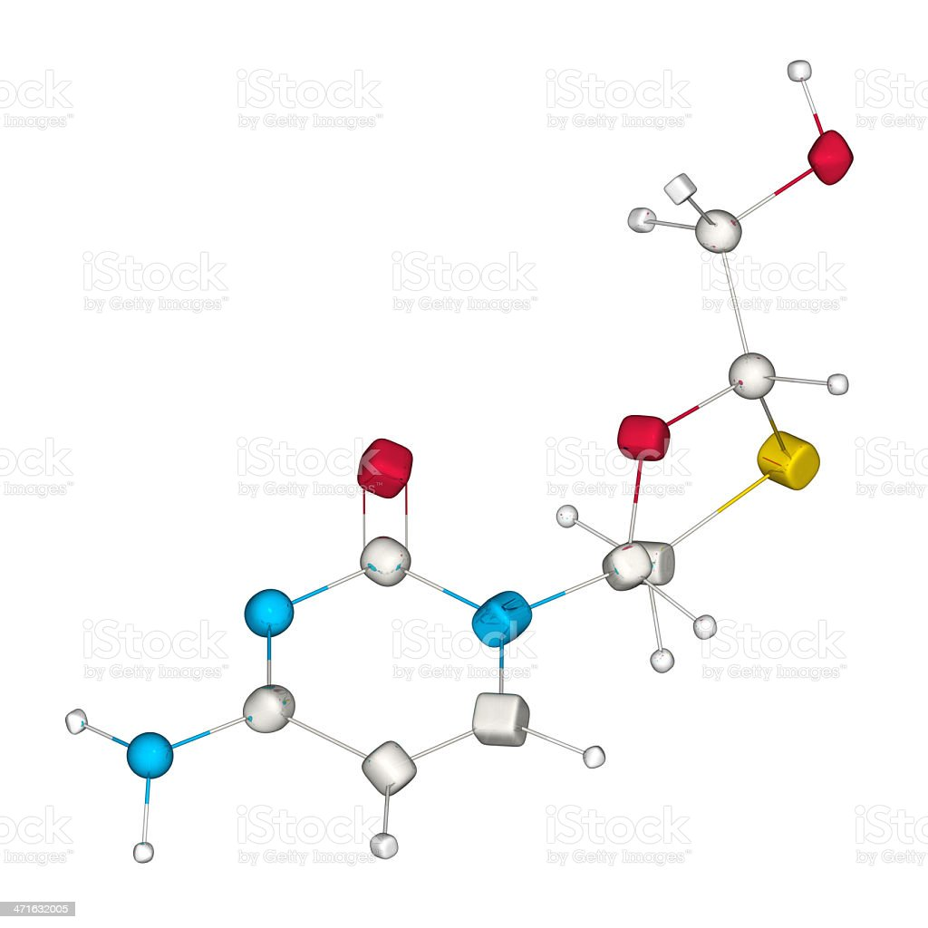 DrugModel: Lamivudine royalty-free stock photo