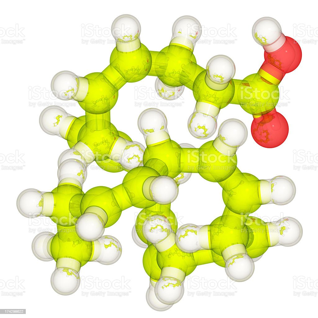 DrugModel: Omega-3 DHA stock photo