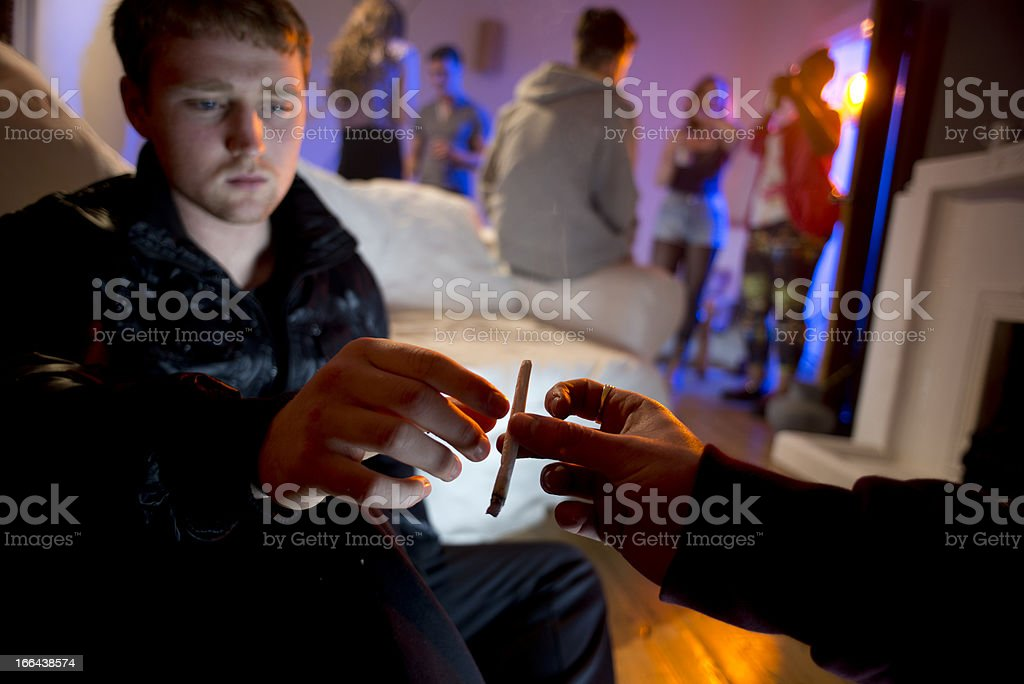 drugs and booze at a house party stock photo