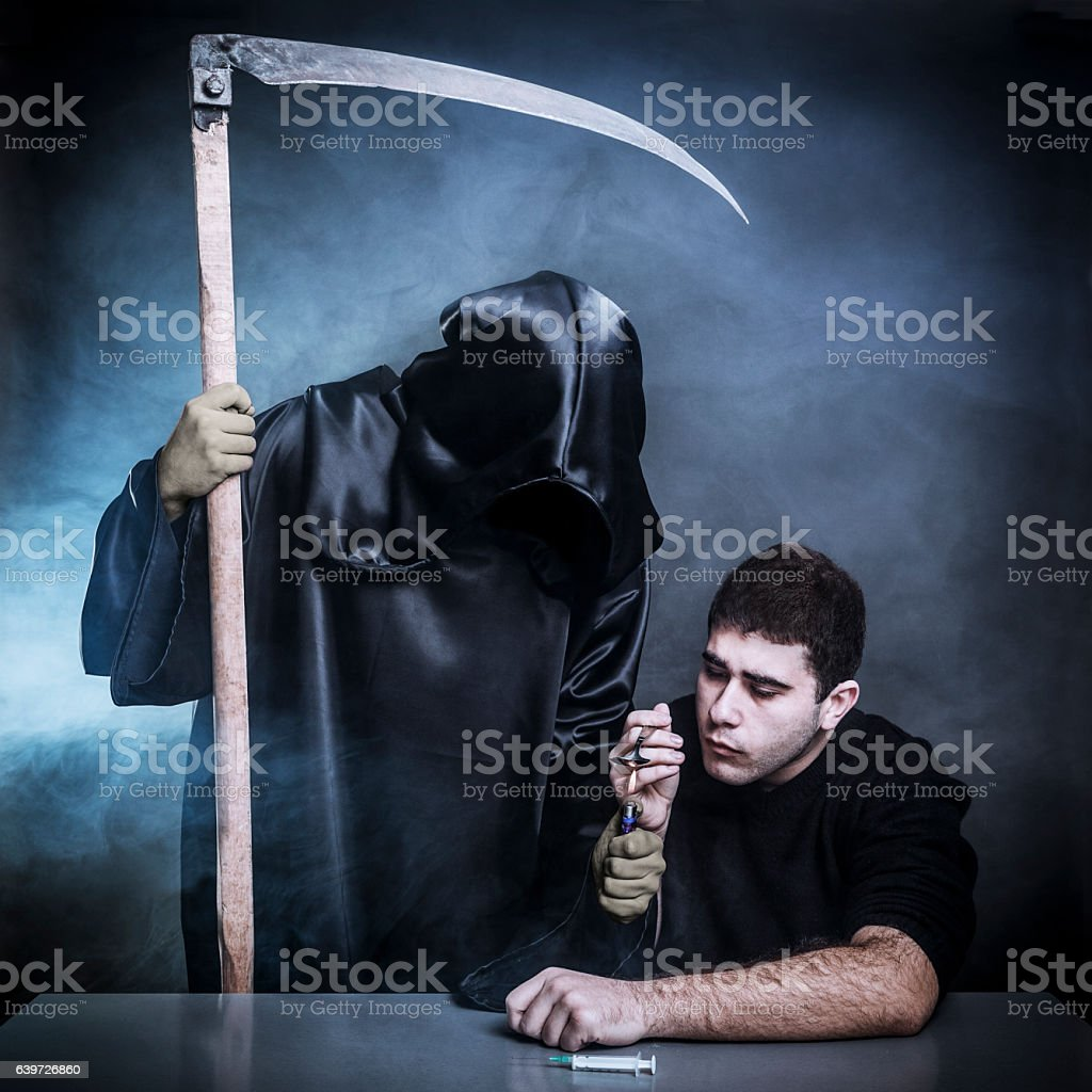 Drugs are going to kill you stock photo