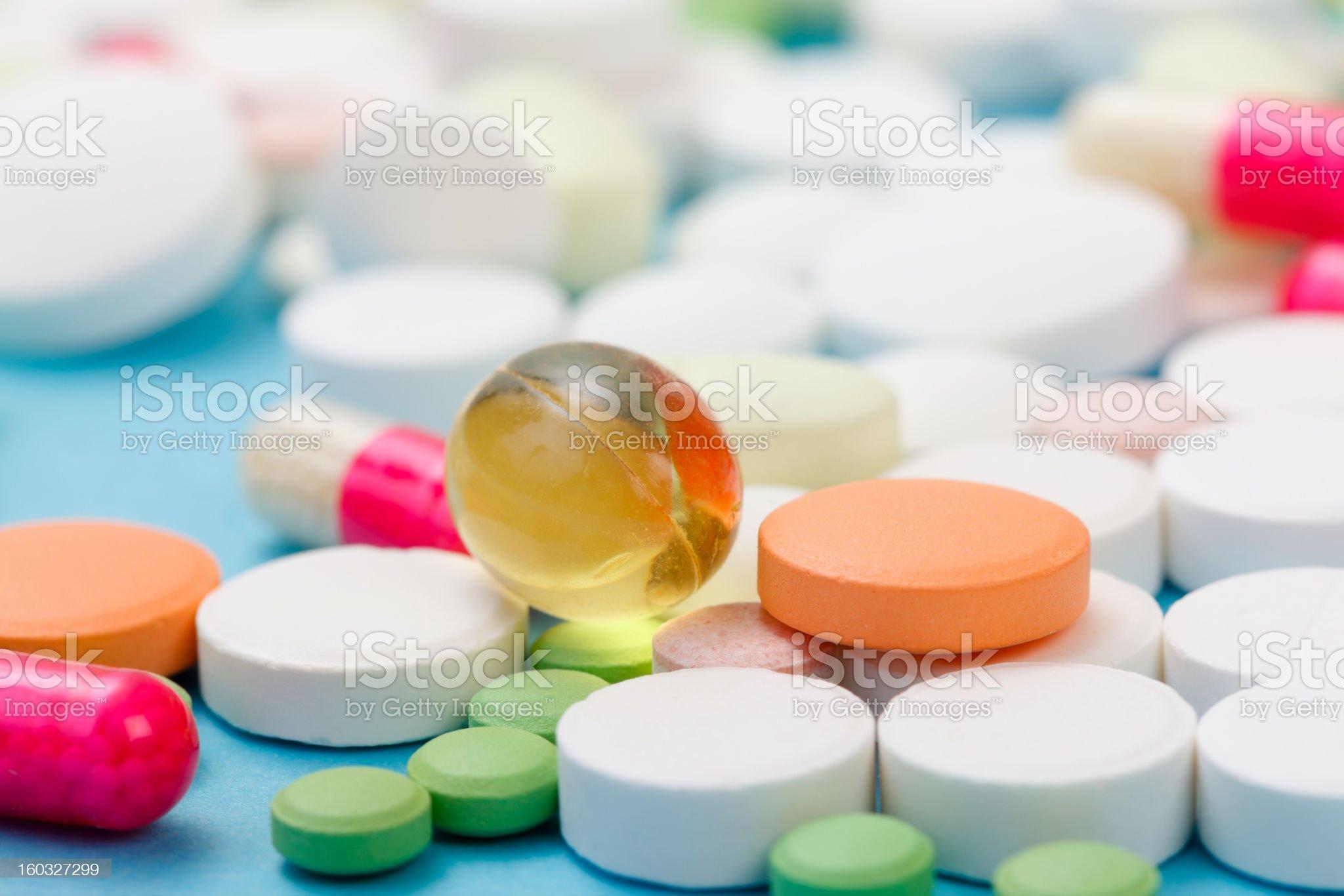 Drugs Closeup royalty-free stock photo