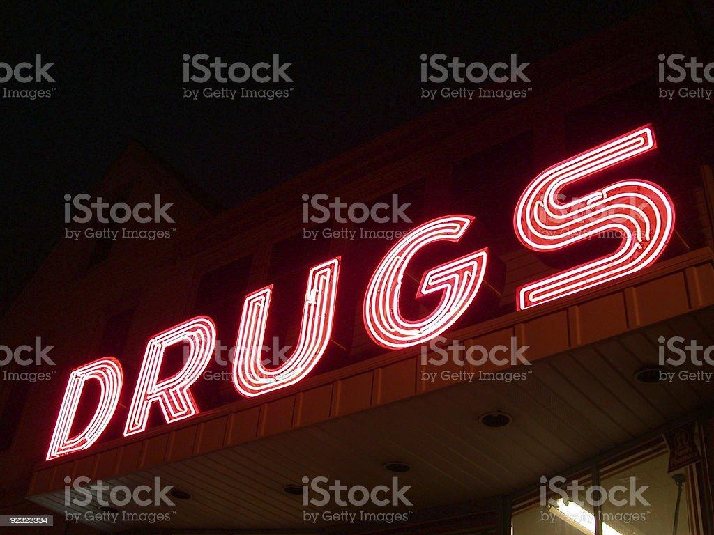 Drugs in neon stock photo