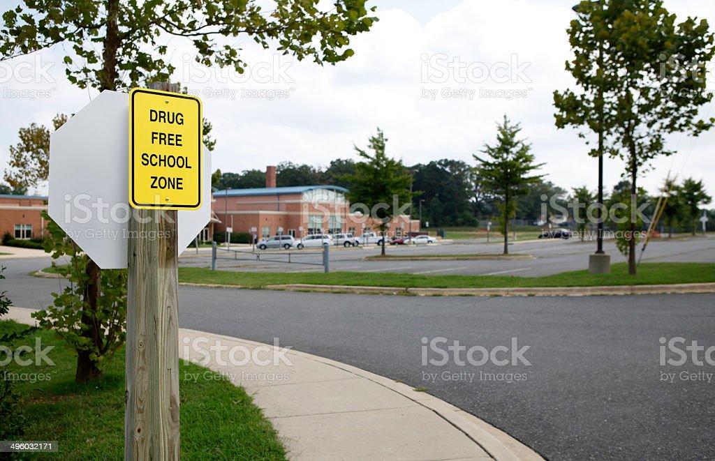 Drugs in public school stock photo