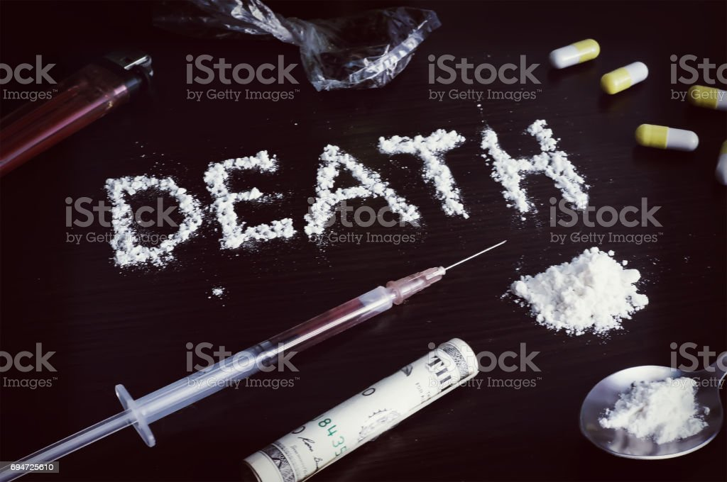 Drugs on the table photo stock photo