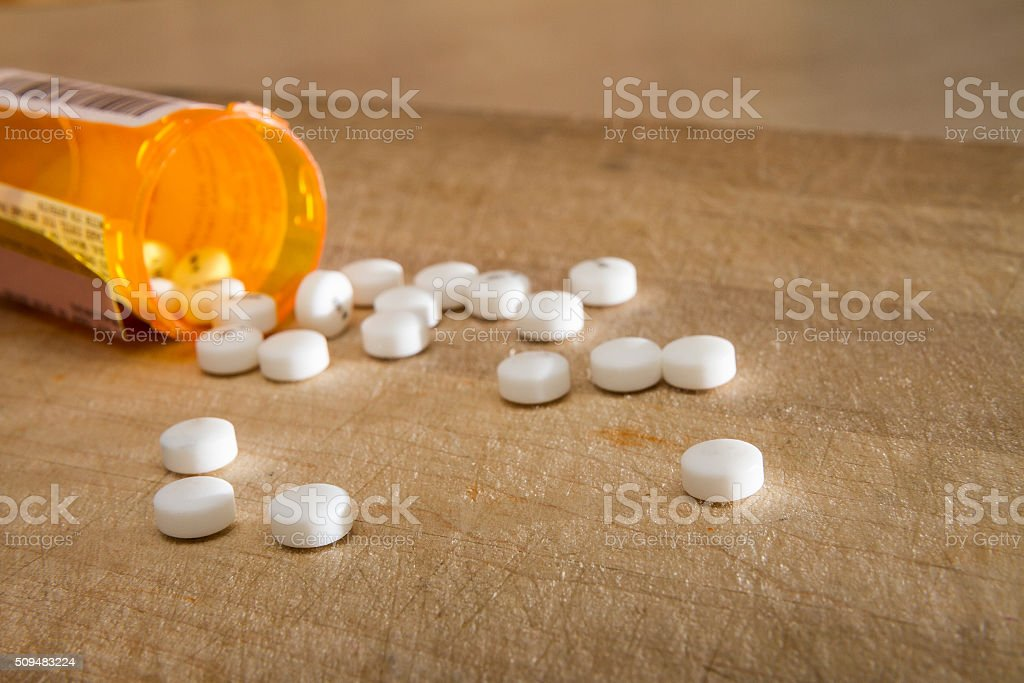 Drugs spilled out stock photo