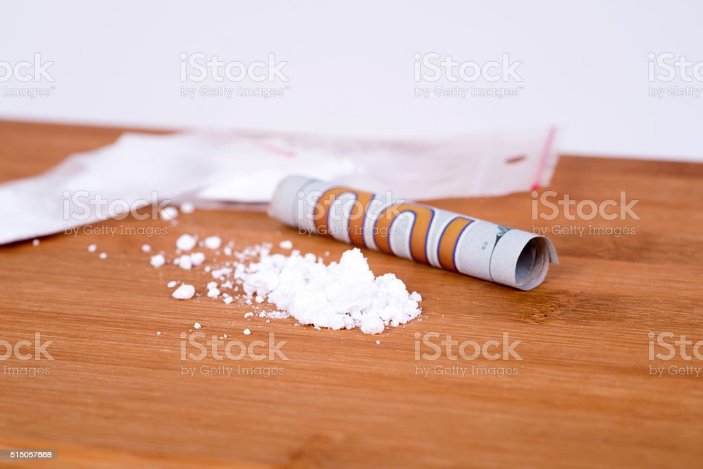drugs,cocaine,heroin and money stock photo