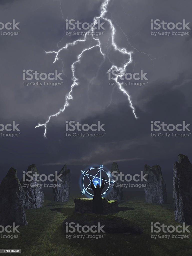 Druid Summoning stock photo