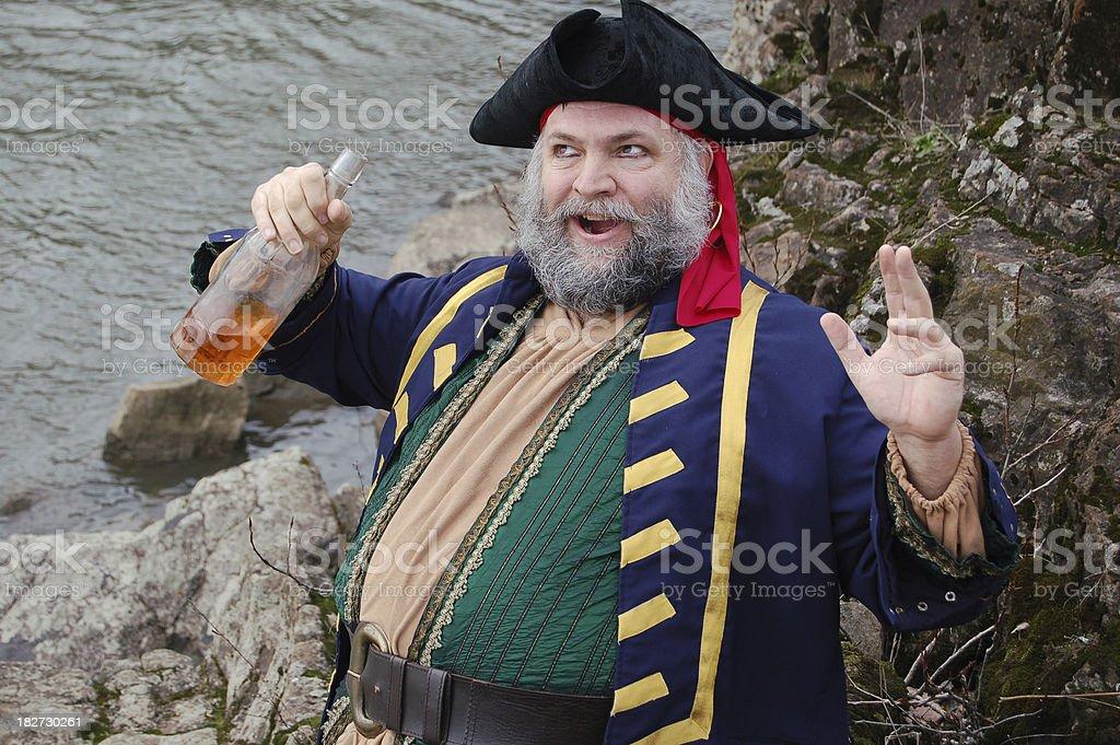 Druken Pirate stock photo