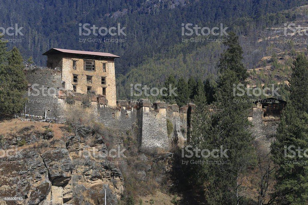 Drukgyal Dzong stock photo