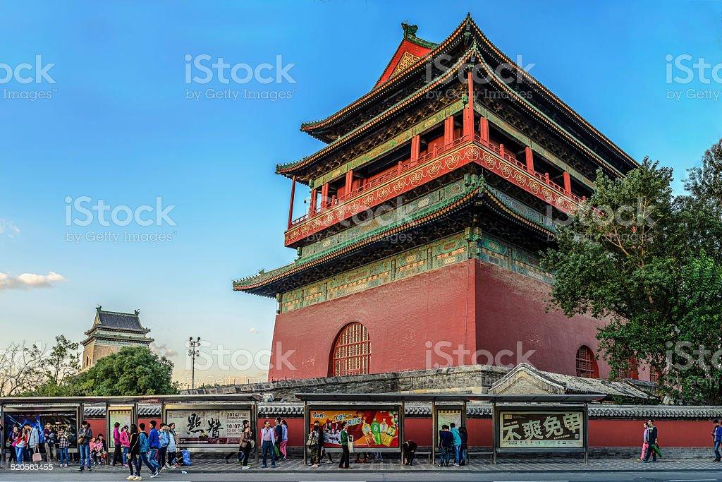 Drum e torre do sino foto royalty-free