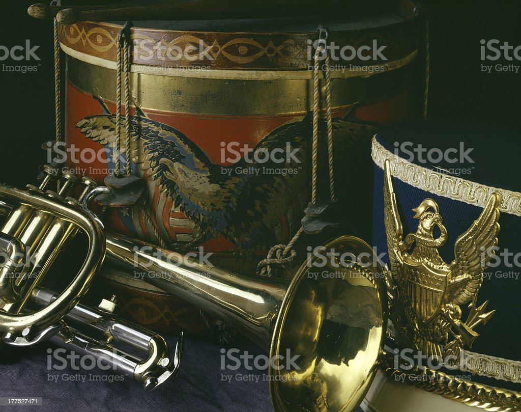 Drum and Bugle Corps royalty-free stock photo