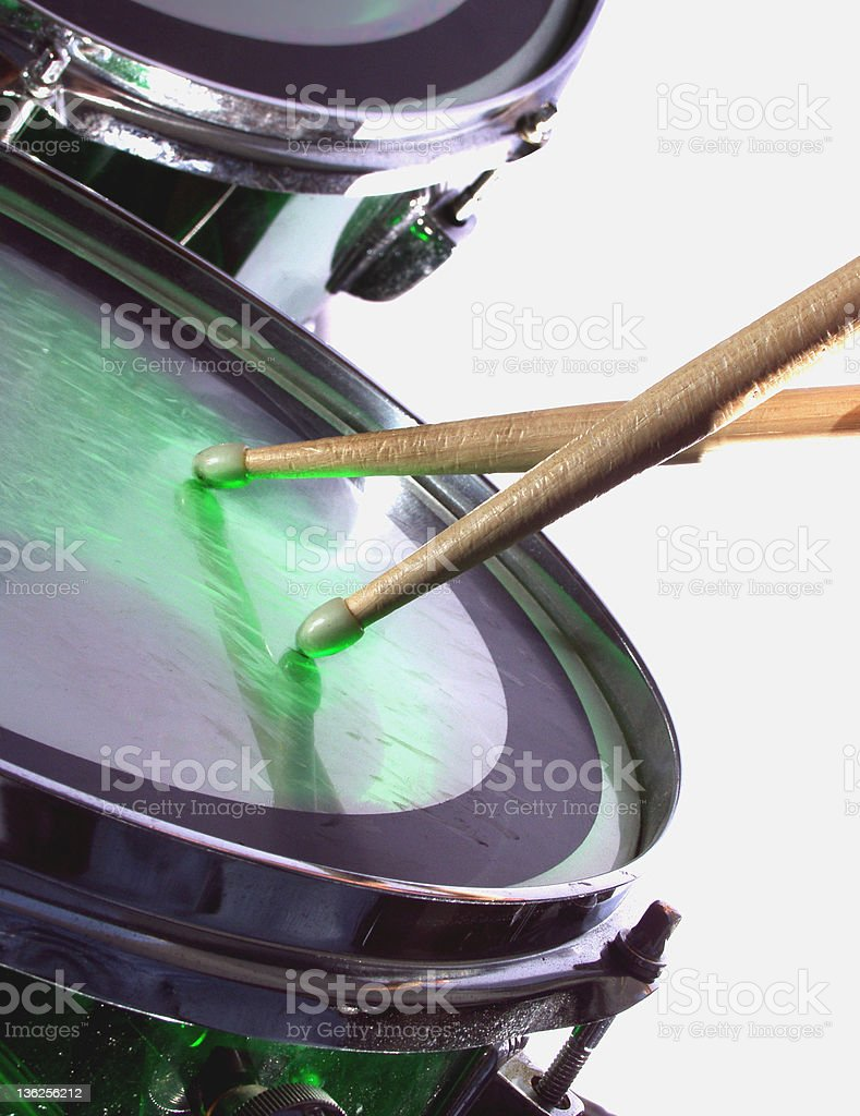 drum and drumsticks royalty-free stock photo
