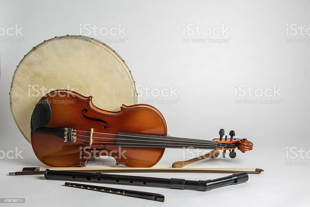 Drum and Fiddle stock photo