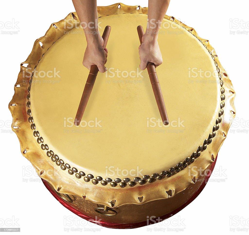Drum and hand 1 stock photo