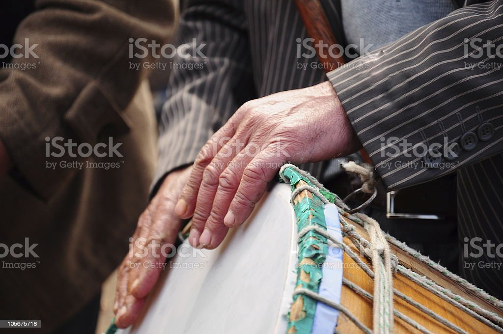 drum and hand royalty-free stock photo