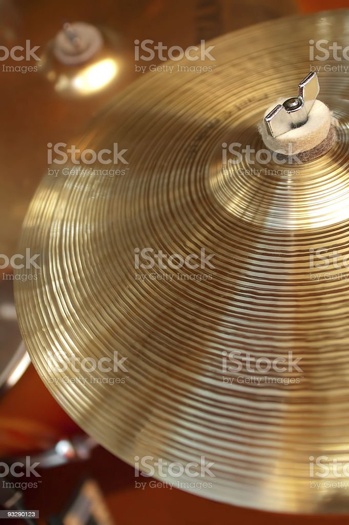drum cymbals stock photo