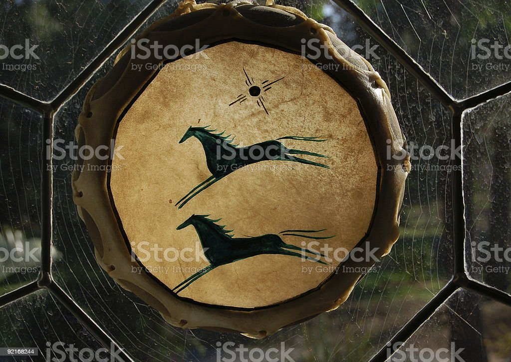 Drum in Window royalty-free stock photo