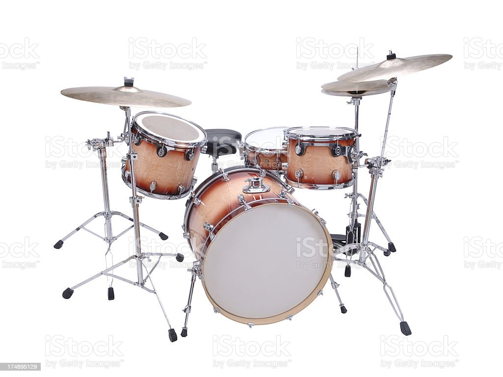Drum Kit with path stock photo