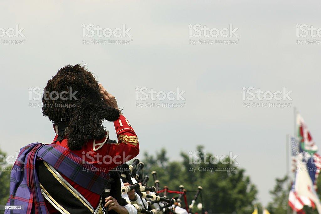 Drum Major at Scottish Highland Games stock photo