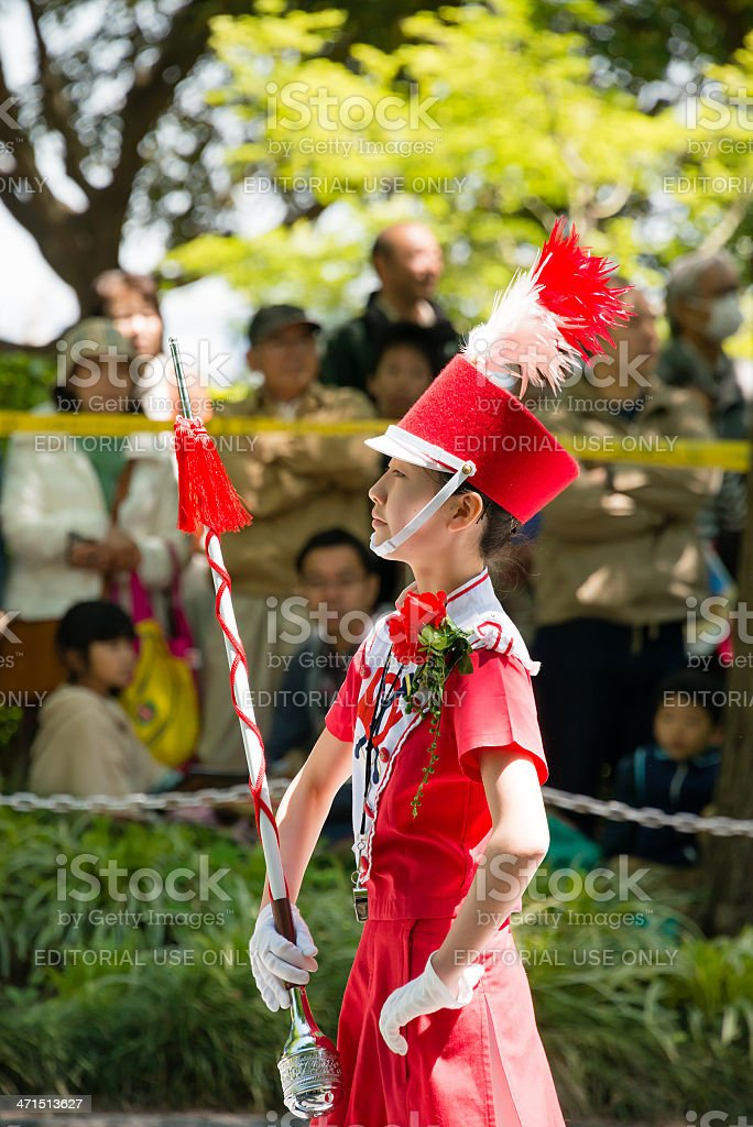 Drum majorette royalty-free stock photo