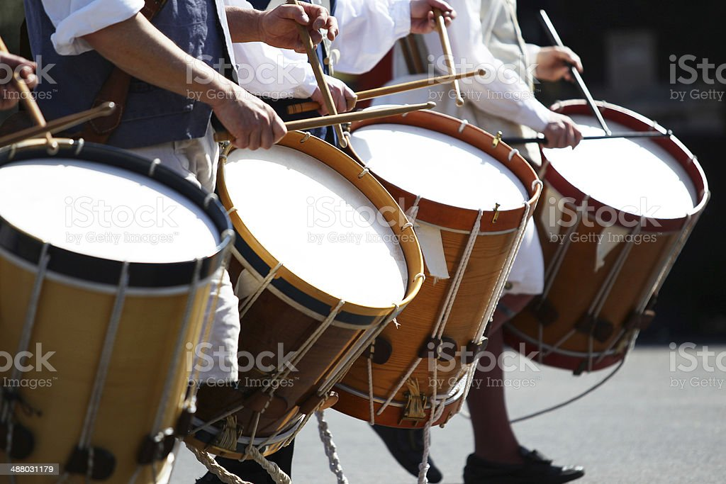 Drum Marching Band stock photo