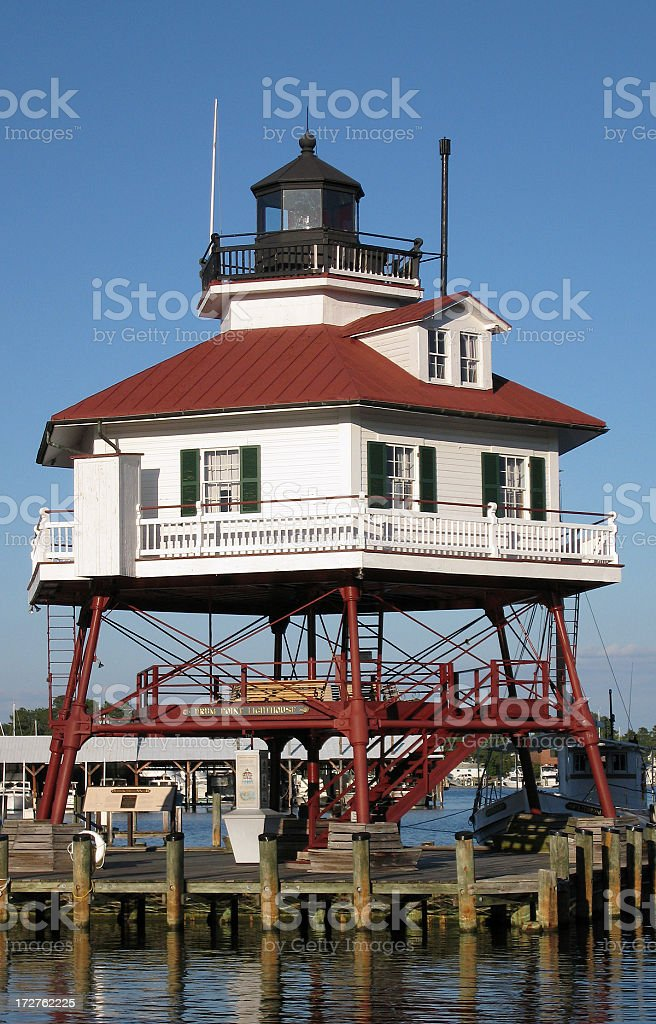 Drum Point Lighthouse stock photo