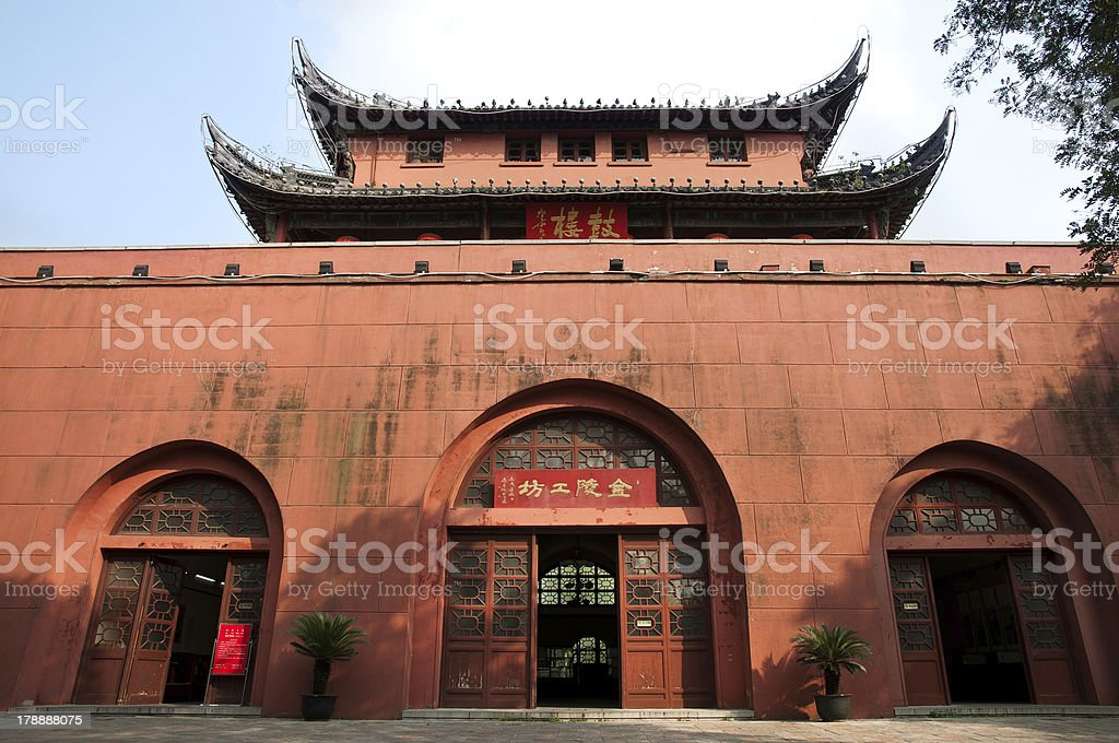 Drum Tower, Nanjing, China royalty-free stock photo