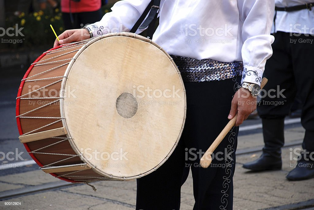 drummer at a festival stock photo