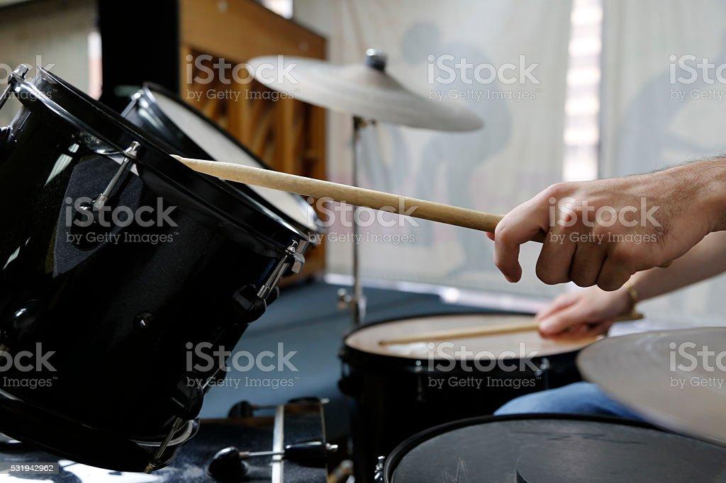 drummer hands stock photo