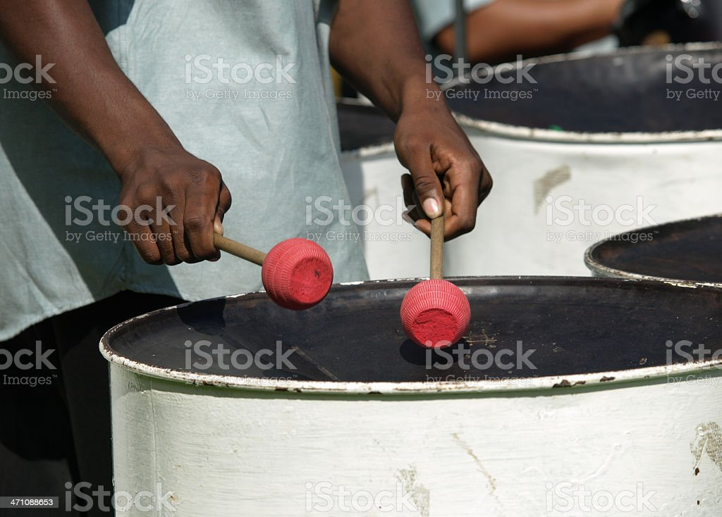 Drummer in a Steel Band stock photo