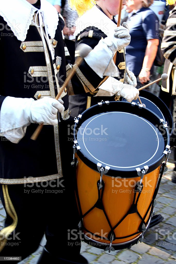 drummer in marching band royalty-free stock photo