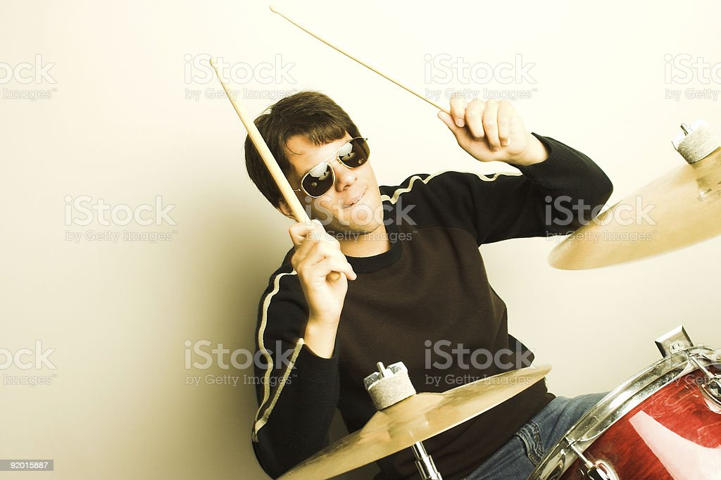 Drummer royalty-free stock photo