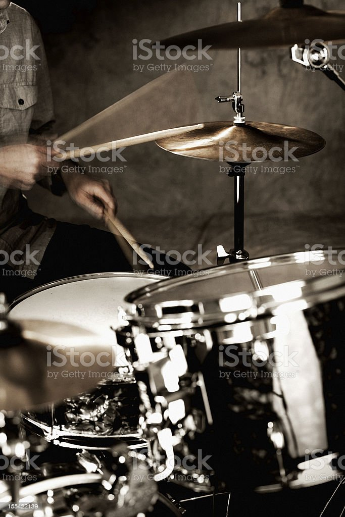 Drummer Playing stock photo