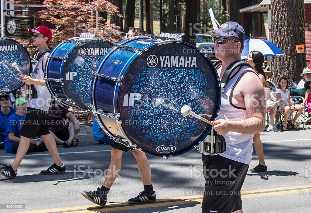 Drummers at Mohawk Valley Parade stock photo