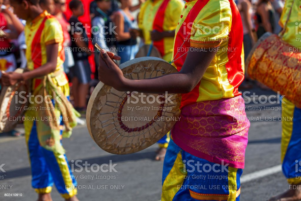 Drummers at the Grand Boucan carnival stock photo