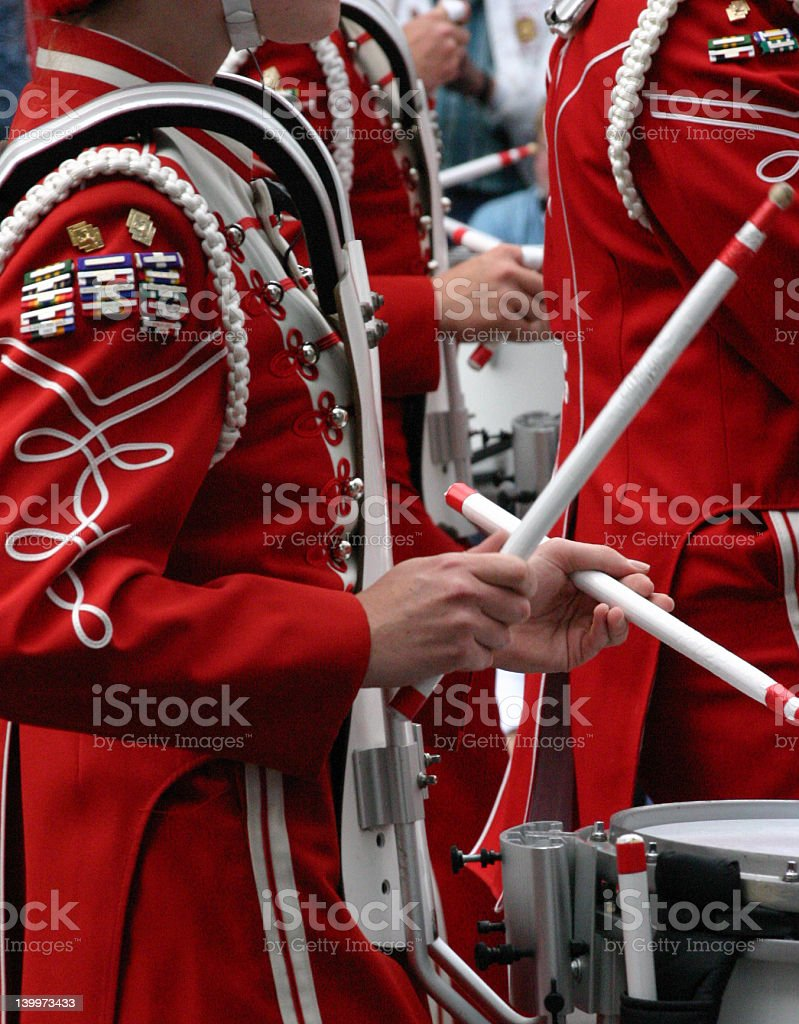 Drummers in marching band\tCalgary royalty-free stock photo