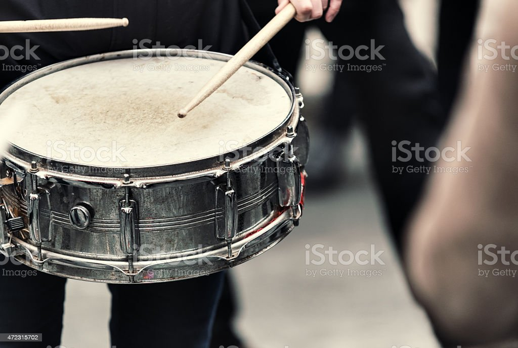 Drumming in the Streets stock photo